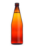Bottle of beer cider orange glass isolated Stock Photos