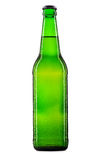 Bottle of beer or cider on white Royalty Free Stock Images