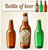 Bottle of beer. Detailed Vector Icon Royalty Free Stock Images