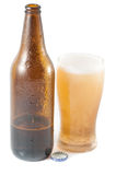 Bottle of beer with glass Stock Photography