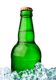 Bottle of beer with ice Royalty Free Stock Photo