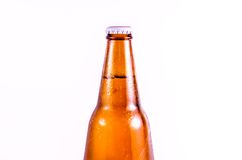Bottle of beer  isolated on white background Royalty Free Stock Images