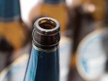 The bottle of beer. macro . Stock Photo