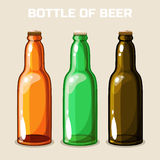 Bottle of beer. Vector Icon Stock Photography