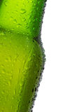 Bottle of beer with water drops Royalty Free Stock Photography