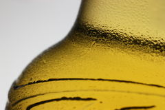 A bottle. Beer bottle with water drops on it Stock Photo