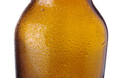 Bottle of beer on white Royalty Free Stock Photos