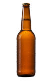 Bottle of beer on white background Royalty Free Stock Images