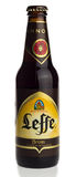 Bottle of Belgian Leffe Bruin beer. Bottle of Belgian Leffe Blond beer isolated on a white background Stock Image