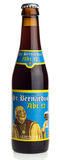Bottle of Belgian St. Bernardus Abt 12 beer. Isolated on a white background royalty free stock images