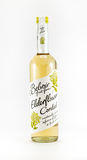 Bottle of Belvoir elderflower cordial on a white background. Royalty Free Stock Photo
