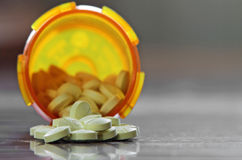 Bottle of benzodiazepine tranquilizers Royalty Free Stock Photography