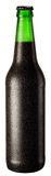Bottle of black beer. With drops on white background. The file contains a path to cut Royalty Free Stock Images