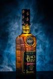 Bottle of Black Velvet Reserve canadian whiskey. Stock Photo