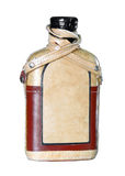 Bottle with blank label Stock Photography