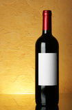 Bottle with blank label Royalty Free Stock Images
