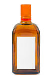 Bottle with blank label Stock Photos