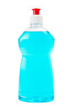 Bottle  of blue dish washing liquid isolated Stock Images