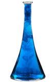 Bottle with blue liquid Stock Photos
