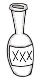 Bottle of Booze. Illustration of a bottle of alcohol or poison Royalty Free Stock Images