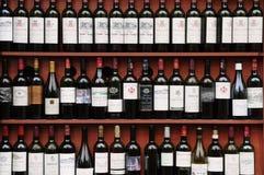 Bottle of Bordeaux stock images