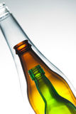 Bottle in bottle. Isolated Bottle made of glass stock photography