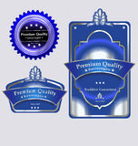Bottle and bottle cap labels Royalty Free Stock Image