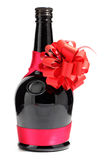 Bottle and bow Stock Photography