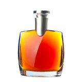 The bottle of brandy (cognac) Royalty Free Stock Image