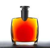 The bottle of brandy (cognac) Stock Photography