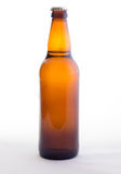 The Bottle. Brown bottle on white background Royalty Free Stock Photos