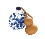 Bottle and calabash Royalty Free Stock Photography