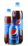 Bottle and can of carbonated soft drink Pepsi Royalty Free Stock Photography