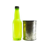 Bottle and canister Stock Photo