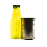 Bottle and canister Royalty Free Stock Image