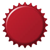 Bottle cap. Dark red colored bottle cap icon Royalty Free Stock Photo