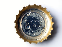 Bottle cap. Closeup of a bottle cap on a white background Royalty Free Stock Photos