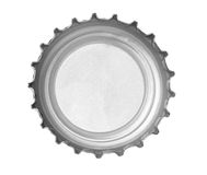 Bottle cap. Close up of  a bottle cap on white background with clipping path Stock Image