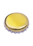 Bottle cap. Closeup view of the beer bottle cap isolated on white Stock Photos