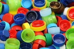 Bottle Cap. Multicolored bottle caps for recycling Royalty Free Stock Image