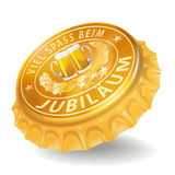 Bottle cap with anniversary Royalty Free Stock Photos