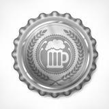 Bottle cap with beer mug & wreath Stock Photos