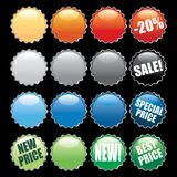 Bottle cap buttons Royalty Free Stock Image