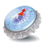 Bottle cap and cocktail party Royalty Free Stock Photos