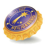 Bottle cap with comet Royalty Free Stock Images