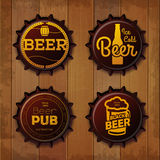 Bottle cap Design. Beer labels Royalty Free Stock Photography