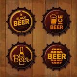 Bottle cap Design. Beer labels Royalty Free Stock Images