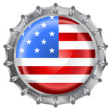 Bottle cap flag Stock Images