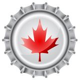 Bottle cap flag Royalty Free Stock Images