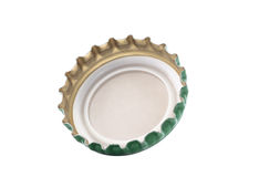Bottle cap isolated on white Royalty Free Stock Photography